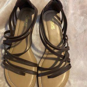 NWOT never worn brown gladiator sandals